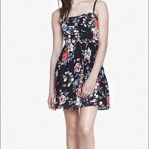 Floral print fit and flare cami dress